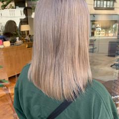 ヌーディベージュ ハイトーンカラー ハイトーン シアーベージュ ヘアスタイルや髪型の写真・画像