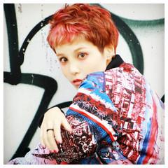 ハイトーン ショート ストリート 外国人風 ヘアスタイルや髪型の写真・画像