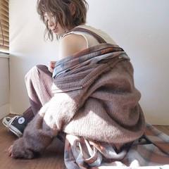 冬 色気 ゆるふわ ボブ ヘアスタイルや髪型の写真・画像