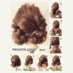 ショート セルフヘアアレンジ 簡単ヘアアレンジ 時短 ヘアスタイルや髪型の写真・画像