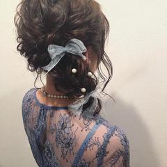結婚式ヘアアレンジ ヘアアレンジ ゆるふわセット ふわふわヘアアレンジ ヘアスタイルや髪型の写真・画像