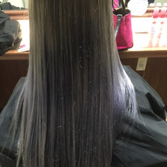 外国人風 ロング ラベンダー ブルージュ ヘアスタイルや髪型の写真・画像
