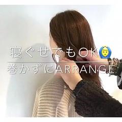 ヘアアレンジ デート オフィス セミロング ヘアスタイルや髪型の写真・画像