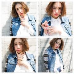 春 ストリート パンク ボブ ヘアスタイルや髪型の写真・画像