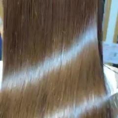 ミディアム トリートメント 髪質改善トリートメント フェミニン ヘアスタイルや髪型の写真・画像