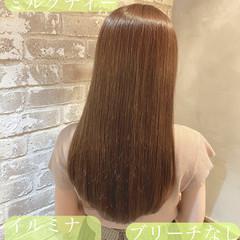 髪質改善トリートメント ナチュラル 大人かわいい ミルクティーベージュ ヘアスタイルや髪型の写真・画像