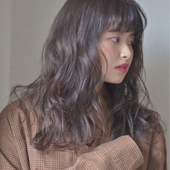 前髪あり ロング ナチュラル 春 ヘアスタイルや髪型の写真・画像