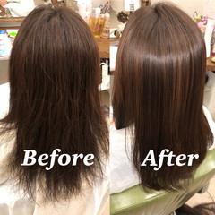 ナチュラル 髪質改善トリートメント 縮毛矯正 髪質改善 ヘアスタイルや髪型の写真・画像