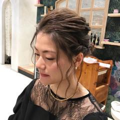 ボブ ヘアアレンジ 結婚式 編み込み ヘアスタイルや髪型の写真・画像