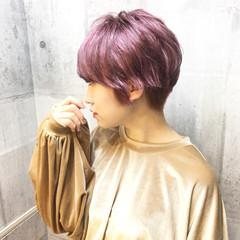 ピンク ストリート 外国人風カラー ショート ヘアスタイルや髪型の写真・画像