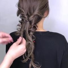 ガーリー ロング 大人かわいい 簡単ヘアアレンジ ヘアスタイルや髪型の写真・画像