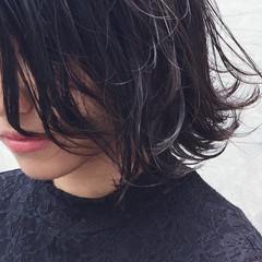 暗髪 黒髪 外ハネ ストリート ヘアスタイルや髪型の写真・画像