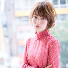 大人かわいい 秋 小顔 ガーリー ヘアスタイルや髪型の写真・画像
