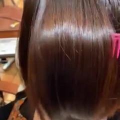 縮毛矯正 ミニボブ ナチュラル 切りっぱなしボブ ヘアスタイルや髪型の写真・画像