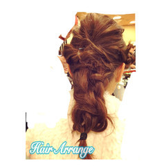 セミロング ヘアアレンジ フェミニン 成人式 ヘアスタイルや髪型の写真・画像