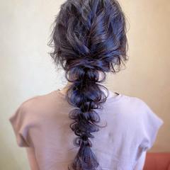 編みおろし ロング ヘアアレンジ お呼ばれ ヘアスタイルや髪型の写真・画像
