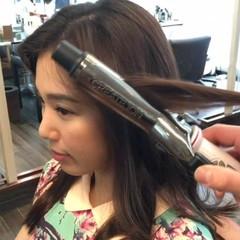 パーマ 簡単ヘアアレンジ ショート セミロング ヘアスタイルや髪型の写真・画像