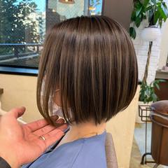 外国人風 コンサバ ハイライト バレイヤージュ ヘアスタイルや髪型の写真・画像