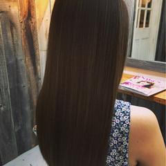 ロング 外国人風 アッシュ トリートメント ヘアスタイルや髪型の写真・画像