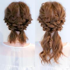 ロング フェミニン 簡単ヘアアレンジ 大人女子 ヘアスタイルや髪型の写真・画像