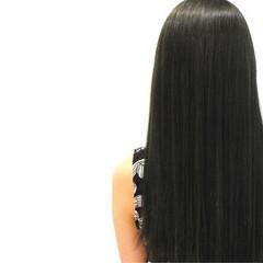 ストレート ガーリー 艶髪 暗髪 ヘアスタイルや髪型の写真・画像