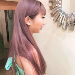 ハイライト グラデーションカラー ロング ハイトーンカラー ヘアスタイルや髪型の写真・画像