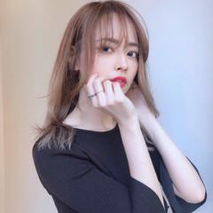 ナチュラル 韓国ヘア 小顔 韓国風ヘアー ヘアスタイルや髪型の写真・画像
