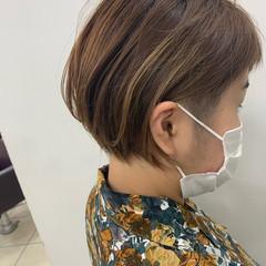 ショートヘア ベリーショート 切りっぱなしボブ ナチュラル ヘアスタイルや髪型の写真・画像