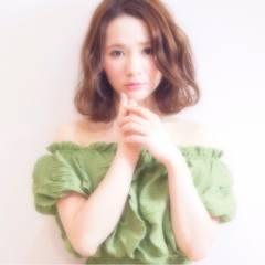 モテ髪 フェミニン センターパート コンサバ ヘアスタイルや髪型の写真・画像