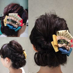 ヘアアレンジ ミディアム 大人女子 結婚式 ヘアスタイルや髪型の写真・画像
