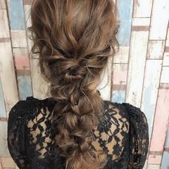 ヘアセット 大人女子 ヘアアレンジ 編み込みヘア ヘアスタイルや髪型の写真・画像