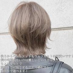 ショート 3Dハイライト ナチュラル ウルフカット ヘアスタイルや髪型の写真・画像