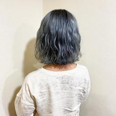モード デート ボブ ダブルカラー ヘアスタイルや髪型の写真・画像