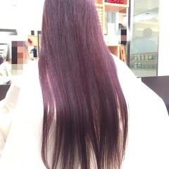 ピンク グラデーションカラー モード 艶髪 ヘアスタイルや髪型の写真・画像