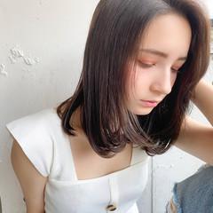 縮毛矯正ストカール 簡単ヘアアレンジ ボブ ミディアムレイヤー ヘアスタイルや髪型の写真・画像