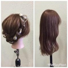 ロング 簡単ヘアアレンジ 二次会 ヘアアレンジ ヘアスタイルや髪型の写真・画像