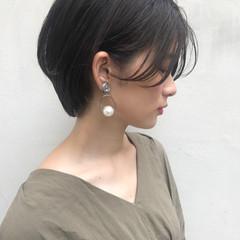 似合わせ ショートボブ ナチュラル 透明感 ヘアスタイルや髪型の写真・画像