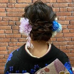成人式ヘア ナチュラル ヘアアレンジ ミディアム ヘアスタイルや髪型の写真・画像