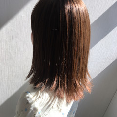アッシュ グレージュ セミロング インナーカラー ヘアスタイルや髪型の写真・画像