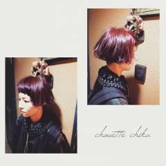 ウェットヘア 外ハネ モード ショート ヘアスタイルや髪型の写真・画像