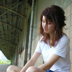 外国人風 ヘアアレンジ 大人かわいい セミロング ヘアスタイルや髪型の写真・画像