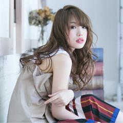 秋 フェミニン リラックス ロング ヘアスタイルや髪型の写真・画像