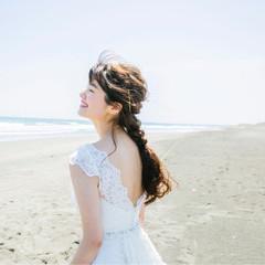 アンニュイ ウェーブ デート ロング ヘアスタイルや髪型の写真・画像