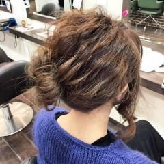 編み込み ナチュラル ヘアアレンジ ショート ヘアスタイルや髪型の写真・画像