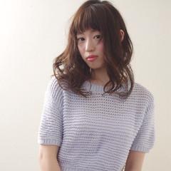 ガーリー 大人かわいい 外国人風 セミロング ヘアスタイルや髪型の写真・画像