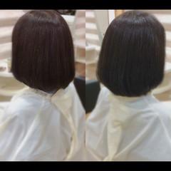 艶髪 髪質改善カラー ボブ 社会人の味方 ヘアスタイルや髪型の写真・画像