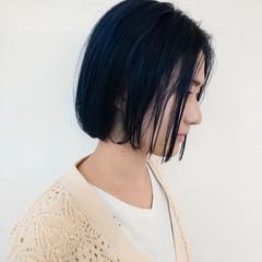 ボブ ナチュラル 地毛風カラー ミニボブ ヘアスタイルや髪型の写真・画像