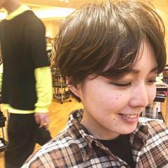 小顔ショート ハンサムショート マッシュショート コンパクトショート ヘアスタイルや髪型の写真・画像