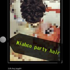 黒髪 ゆるふわ ヘアアレンジ ハーフアップ ヘアスタイルや髪型の写真・画像