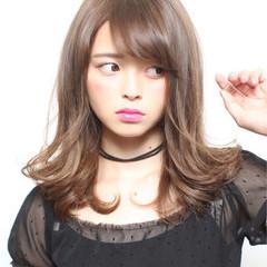 黒髪 ガーリー 大人かわいい 前髪あり ヘアスタイルや髪型の写真・画像